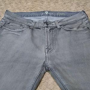 7FAMK slimmy gray 32x29 jeans 7023JN